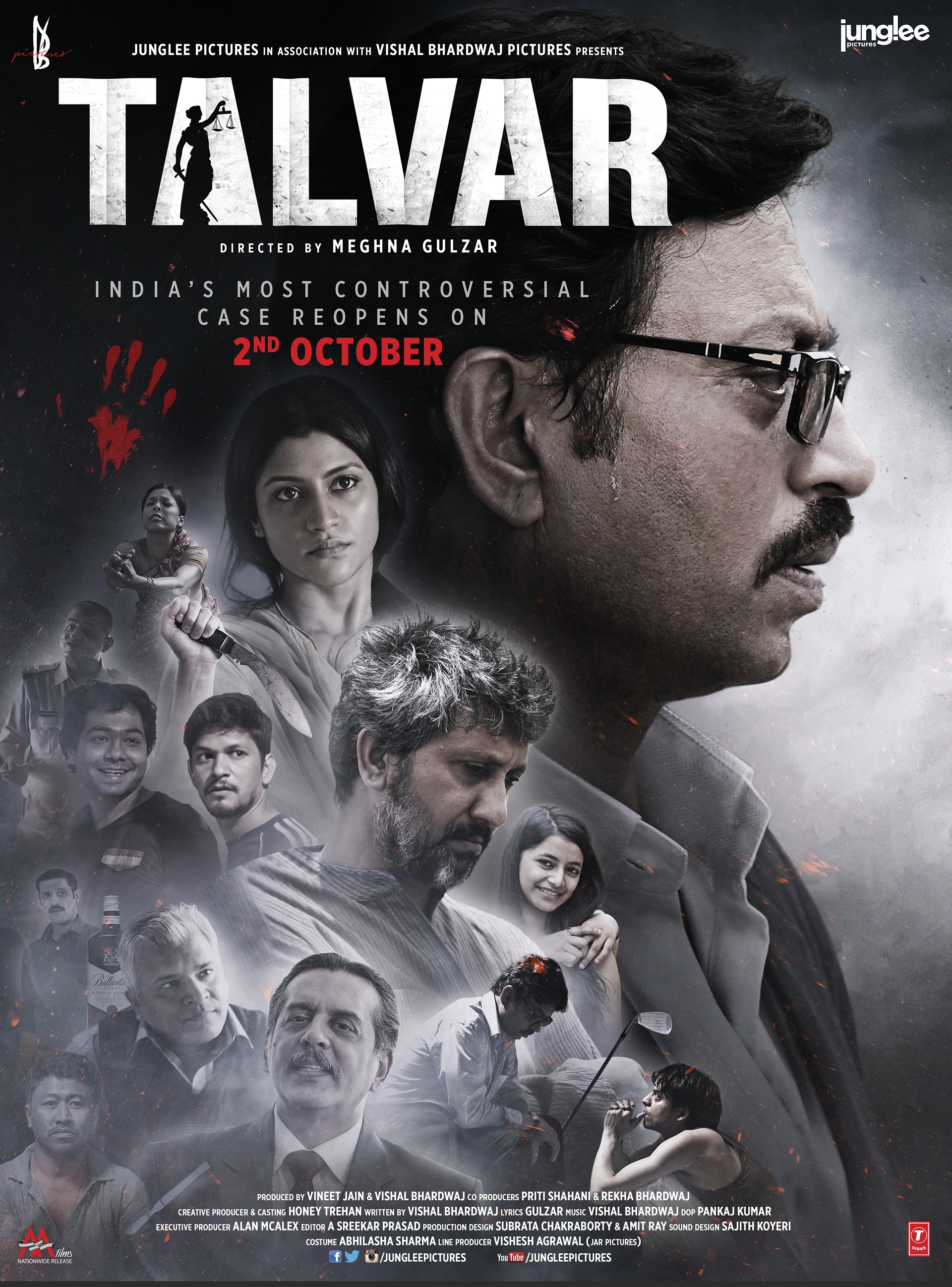 Talvar Movie Poster Irrfan Khan