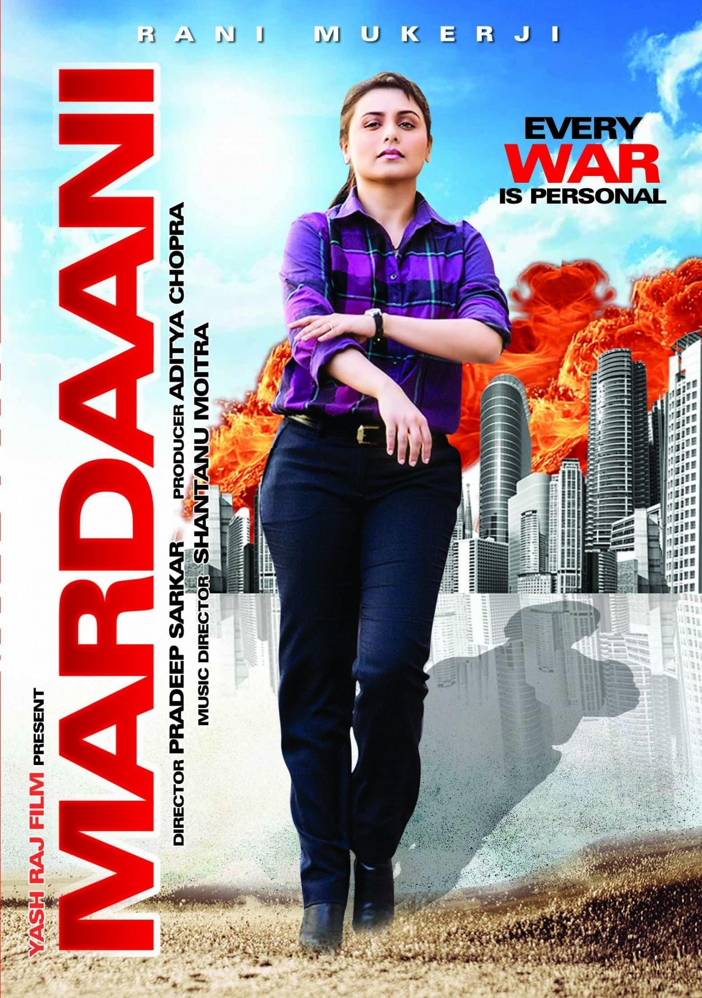 Mardaani Movie Poster Full HD Desktop Wallpaper Rani Mukerji