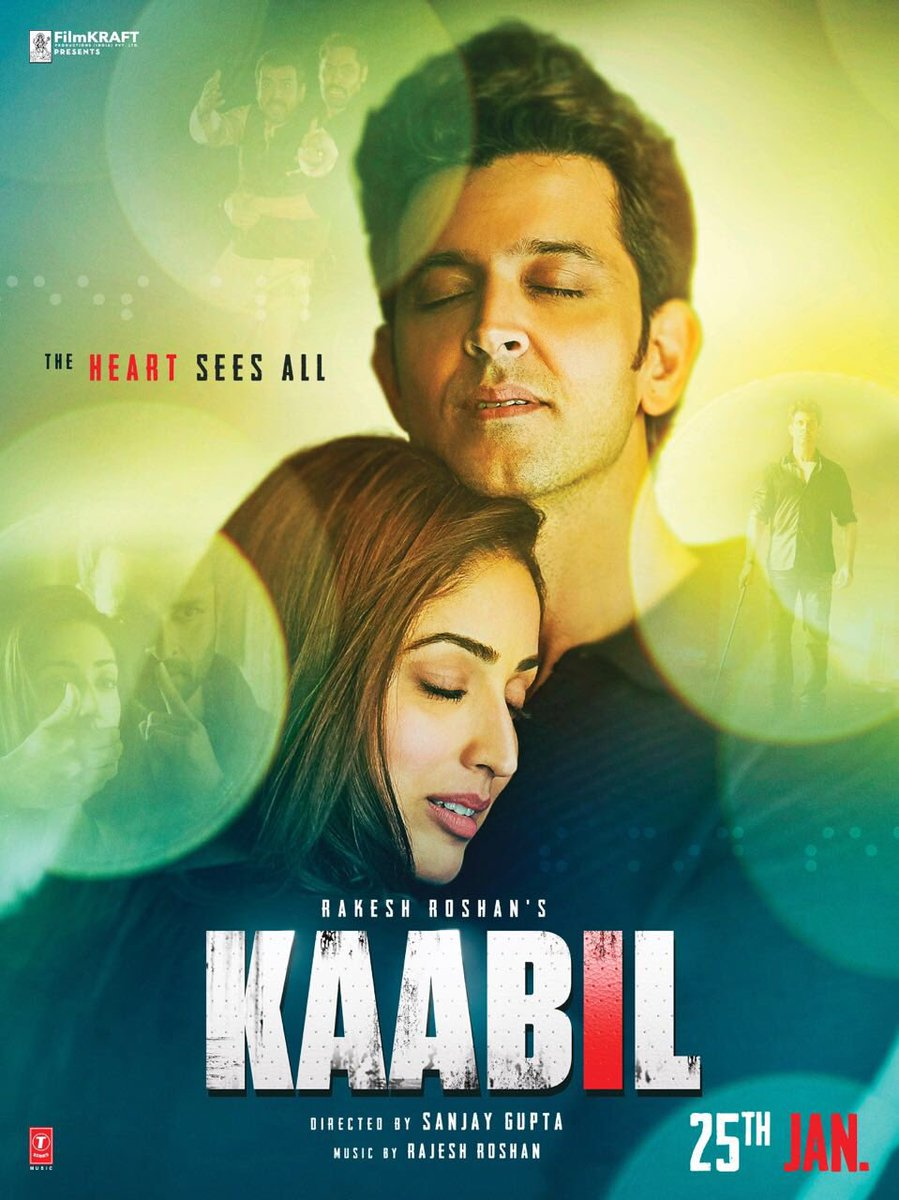 Kaabil Movie Poster Hrithik Roshan And Yami Gautam