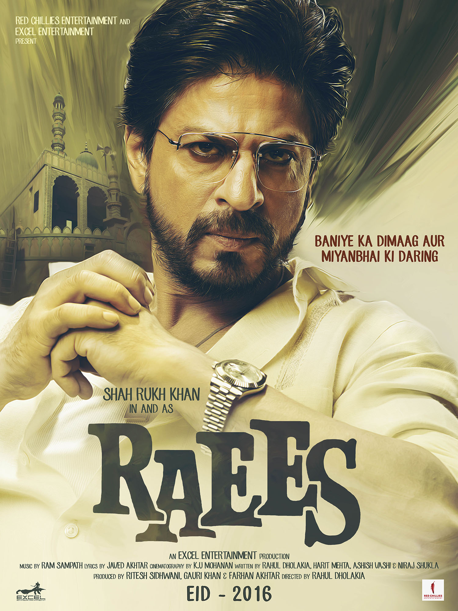 Raees Movie Poster Shah Rukh Khan Full HD Wallpaper