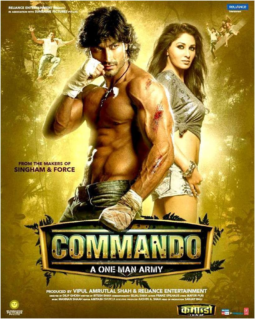 Commando Movie Poster Ft. Vidyut Jammwal, Pooja Chopra