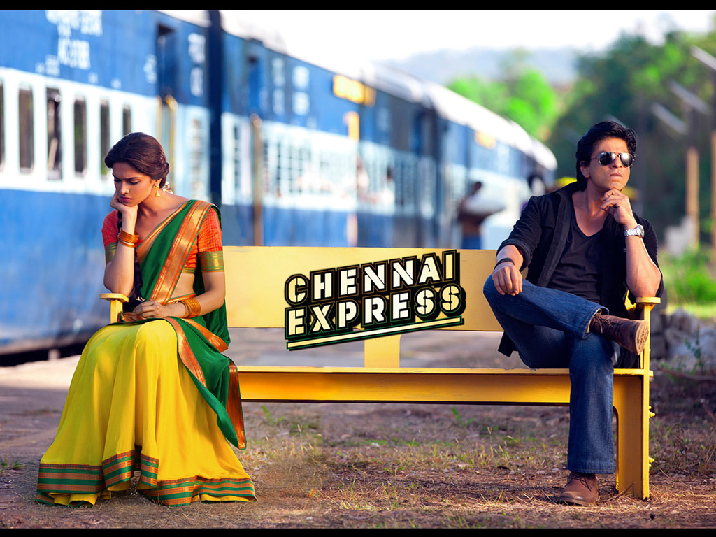 Chennai Express Movie Poster - Deepika Padukone And Shah Rukh Khan
