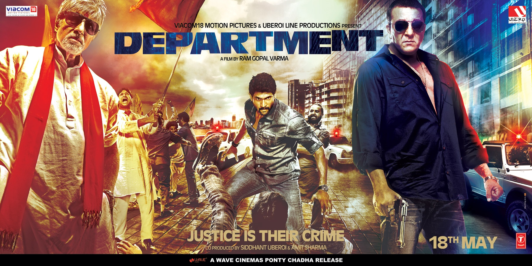 Department Movie HD Poster Sanjay Dutt and Amitabh Bachchan