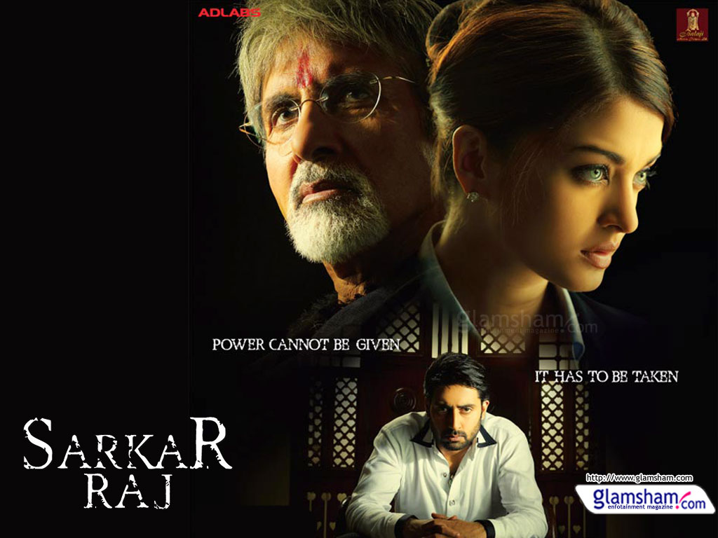 Sarkar Raj Movie Poster HD Amitabh Bachchan Abhishek Bachchan And Aishwarya Rai