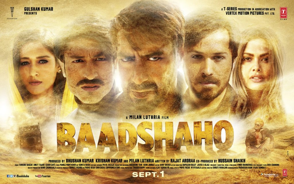 Baadshaho Movie Poster - Ajay Devgan