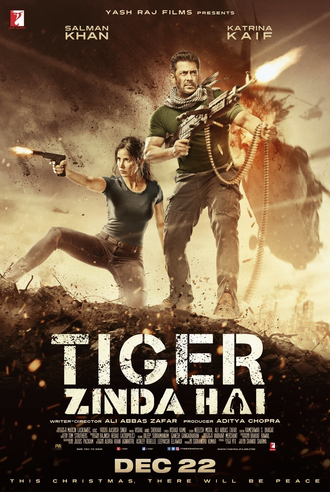 Tiger Zinda Hai Poster - Salman Khan Katrina Kaif