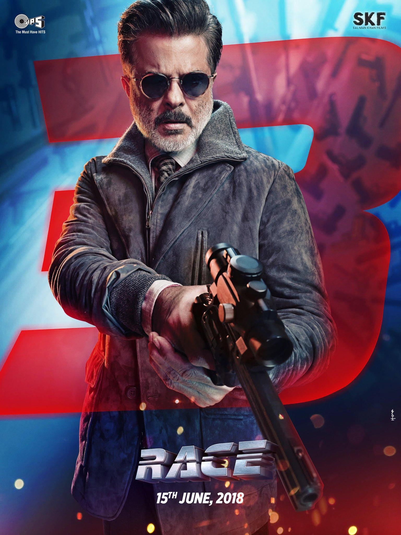 Anil Kapoor as Samsher - Bhaiji Humre Boss - Race 3 Poster