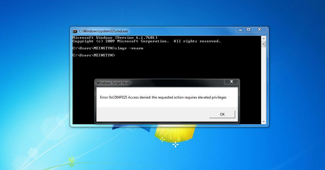 This Copy Of Windows Is Not Genuine - slmgr Error 0xC004F025