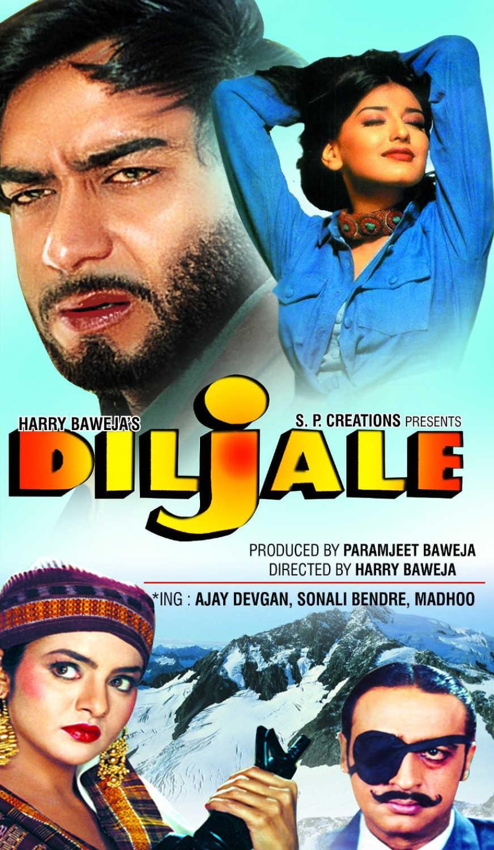 Diljale Movie Dialogues Shayari Status Lyrics - HD Poster - Ajay Devgan