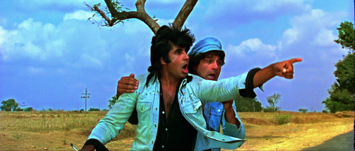Sholay Movie Poster - Jay And Veeru - Yeh Dosti Hum Nahin Todenge Desktop HD Wallpaper
