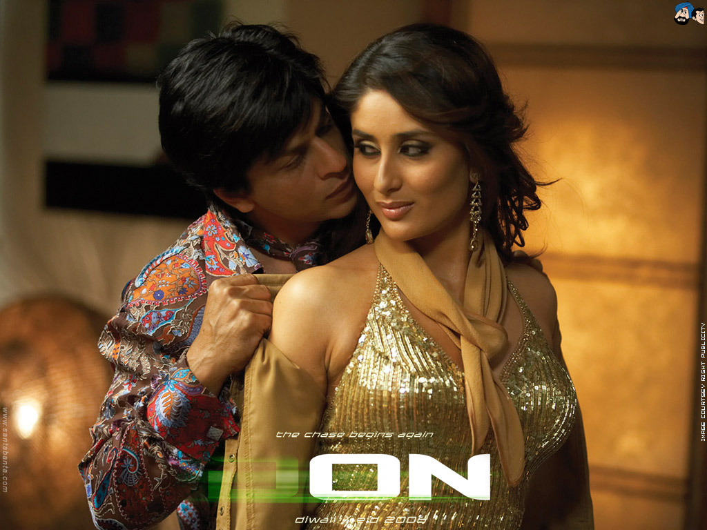 Don Movie Dialogues - Shahrukh Khan And Kareena Kapoor - Sexy HD Photo - Desktop Background