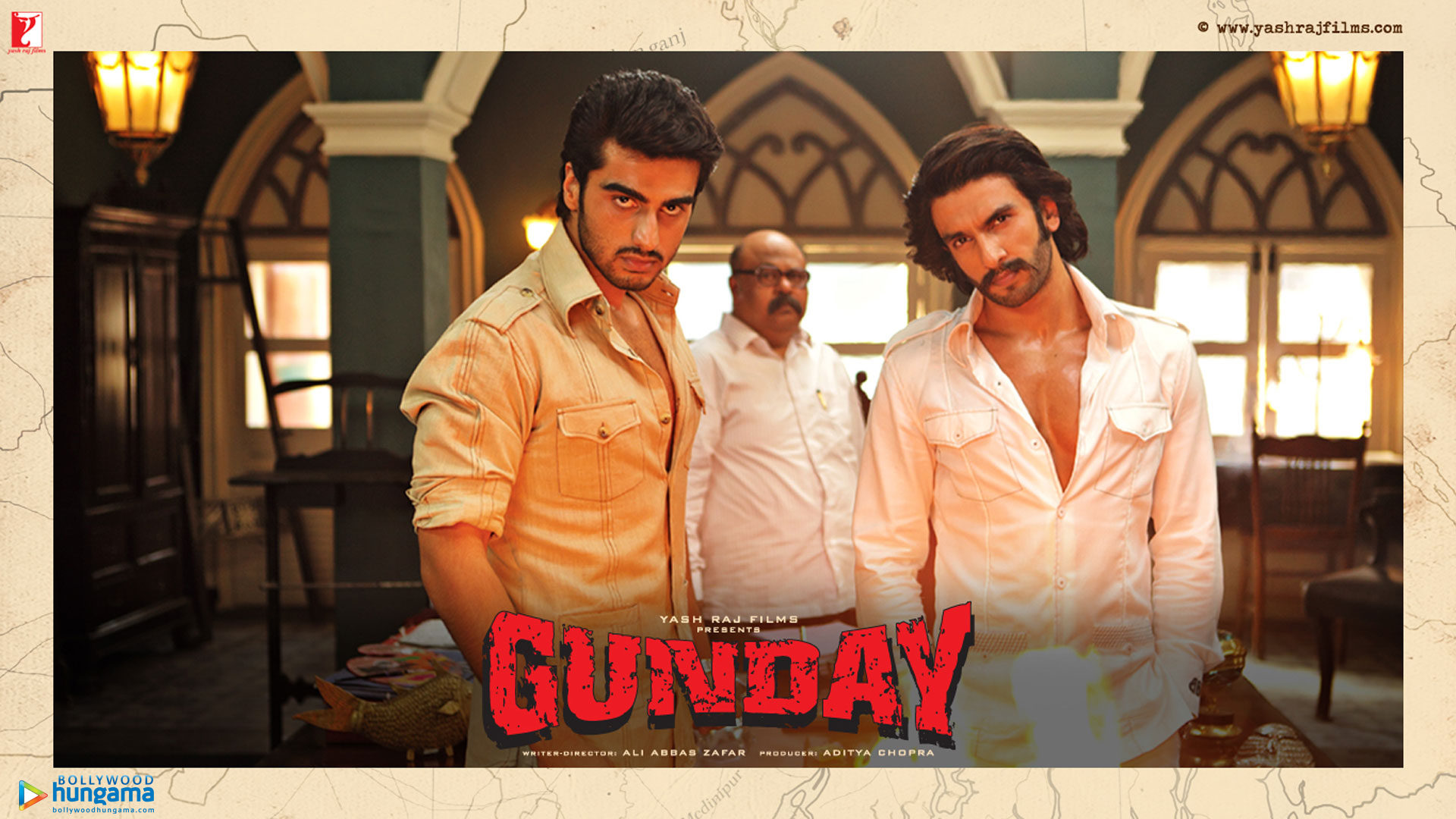 Gunday Movie Dialogues Poster - Ranveer Singh And Arjun Kapoor