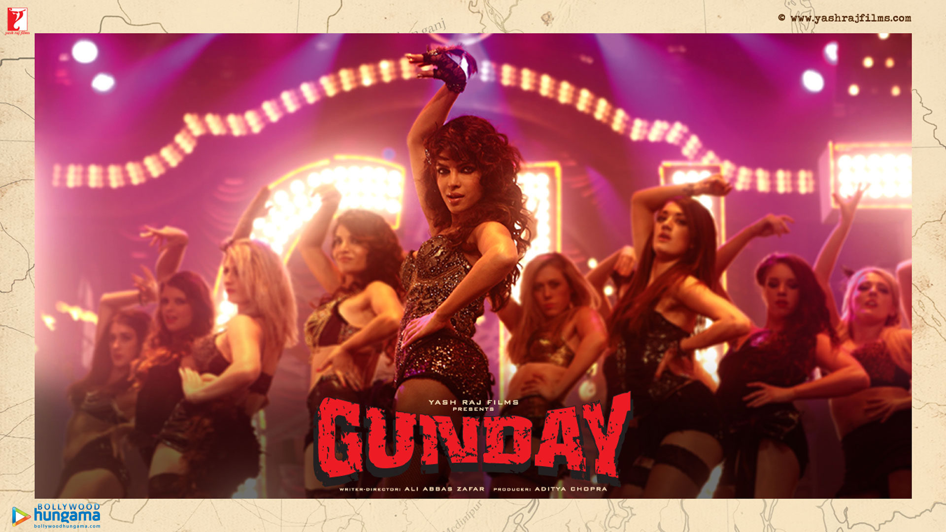 Gunday Movie Dialogues Poster - Sexy Priyanka Chopra