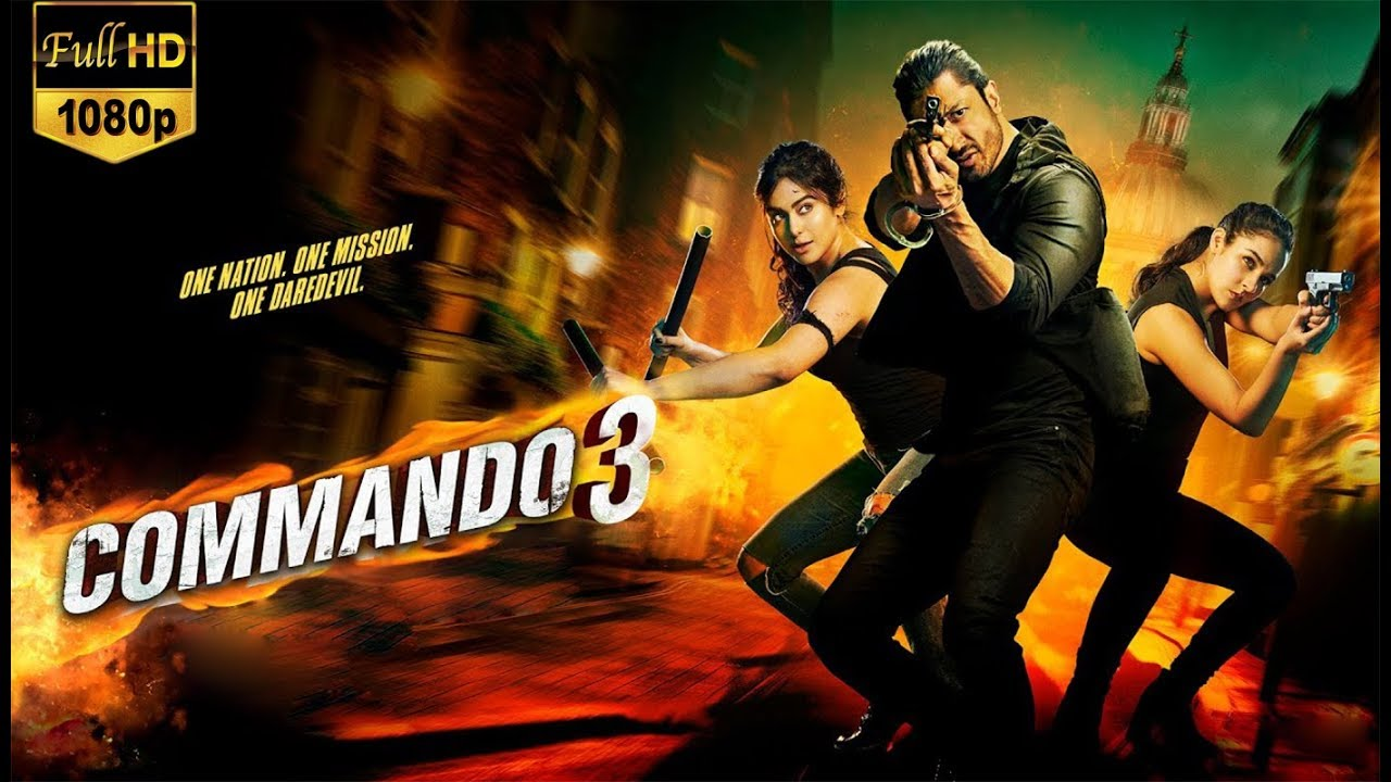 Commando 3 Movie Dialogues - Full HD Desktop Background